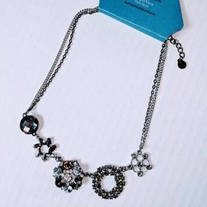SIMPLY VERA WANG Silver Sparkle Statement Necklace